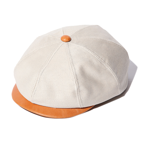 PIQUE/LEATHER COMBINATION CASQUETTE ★40%OFF★