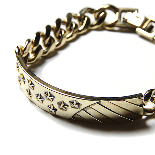THE STARS AND STRIPES CHAIN BRACELET <BRASS>