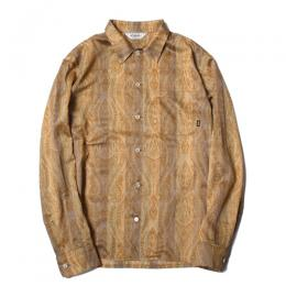 SATIN PAISLEY STRIPE L/S SHIRT
