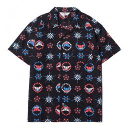 ALLOVER NATIVE EAGLE PATTERN S/S SHIRT