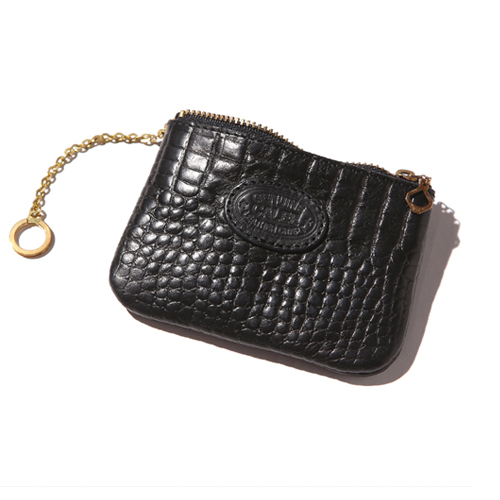EMBOSSING CROCODILE LEATHER COIN PURSE [17AW1047]