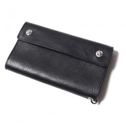 SILVER STAR CONCHO FLAP LEATHER LONG WALLET