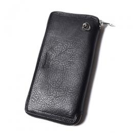 LEATHER ROUND ZIP LONG WALLET