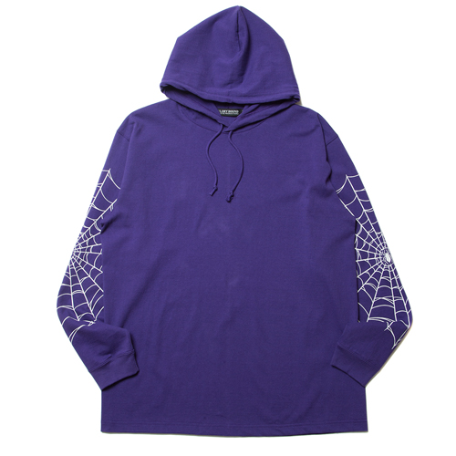 Hooded Print L/S Tee (I'M THROUGH BEING COOL)