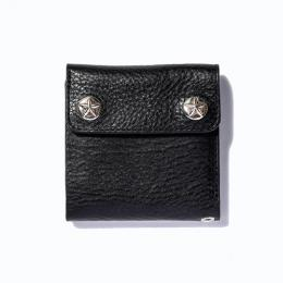 SILVER STAR CONCHO FLAP LEATHER SHORT WALLET