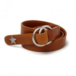 "W RING LEATHER BELT ""TERRY"""
