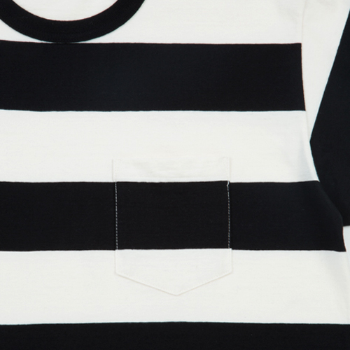 Solid Border S/S Pocket Tee