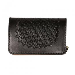 EMBASSING LEATHER MINI WALLET [16AW129]