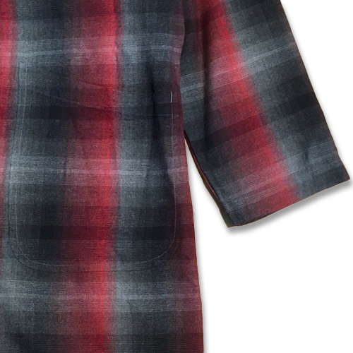 60'S OMBRAY CHECK GOWN COAT
